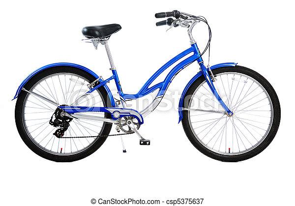 bicicleta, aislado - csp5375637