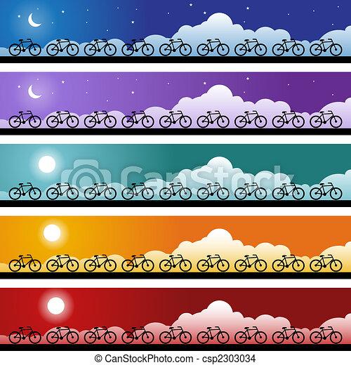 bicicleta, bandeira - csp2303034