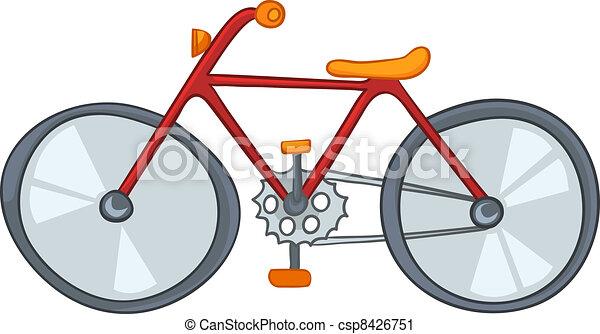 bicicleta, caricatura - csp8426751