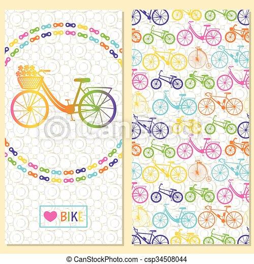 Tarjeta De Invitación Con Bicicleta En La Ch Tarjeta De