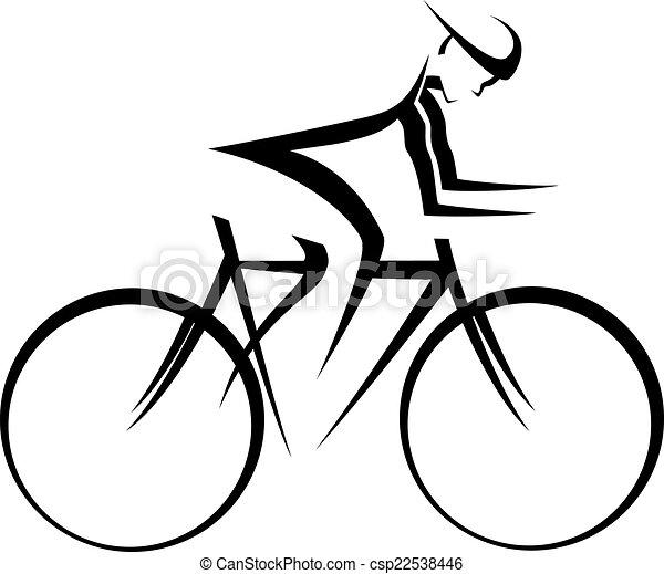 bicicleta, corredor, acento - csp22538446