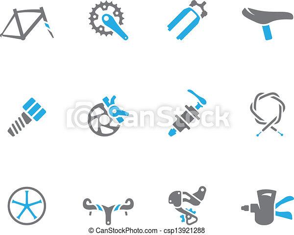 iconos de tono doble, partes de bicicleta - csp13921288