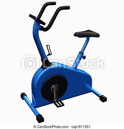 bicicleta, exercício - csp1811351