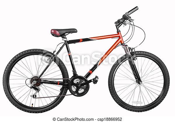 bicicleta montanha, bicicleta - csp18866952