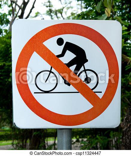 No hay señal de bicicleta - csp11324447