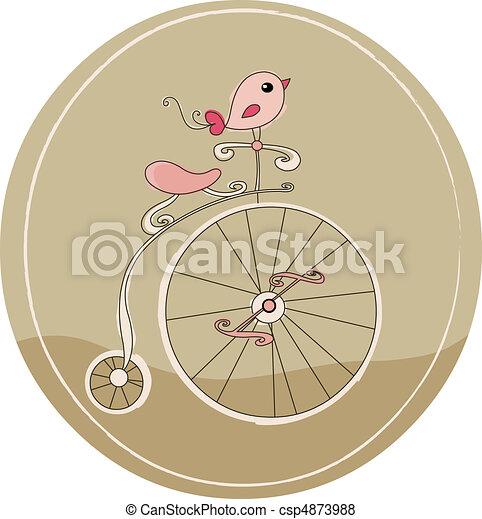 bicicleta, retro - csp4873988