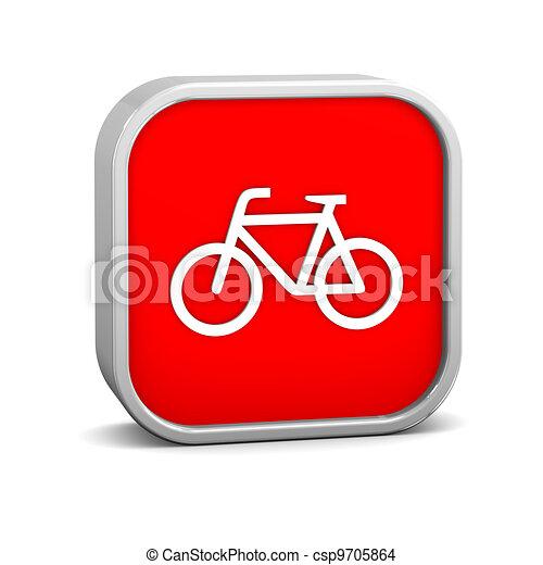 Signo de bicicleta - csp9705864