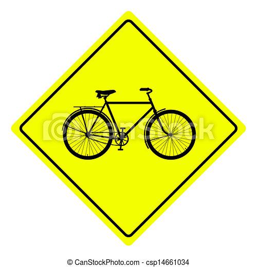Signo de bicicleta - csp14661034
