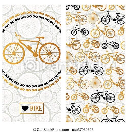 Tarjeta De Invitación Con Bicicleta En La Corona De Cadena Y