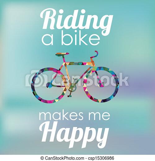 bicicletta, disegno - csp15306986