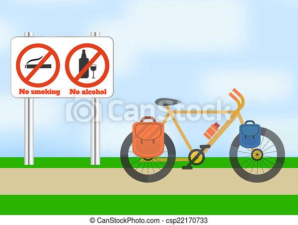 bicicletta, sport., turismo, road. - csp22170733