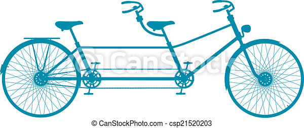 Bicicletta Tandem Retro