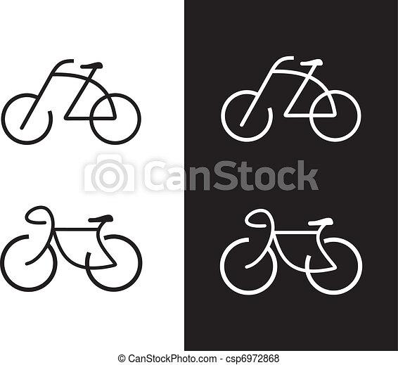 bicikli, -, bicikli, ikon - csp6972868