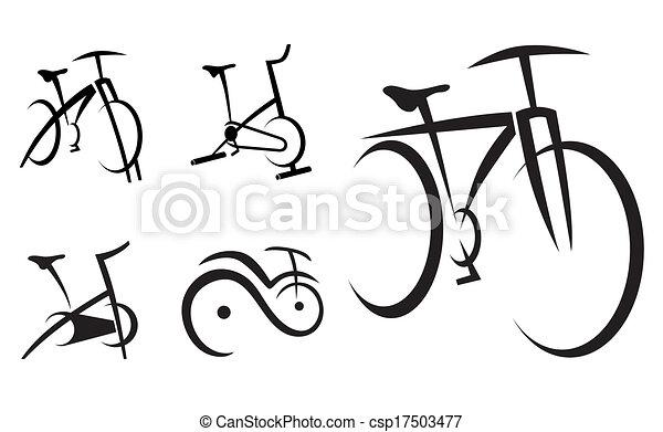 bicikli, egészség, biciklizik, felszerelés - csp17503477