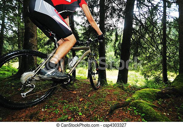 bicikli, felmegy, külső, ember - csp4303327