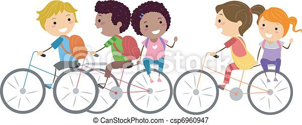 bicikli, gyerekek - csp6960947