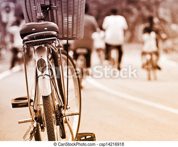 bicikli, retro - csp14216918