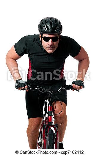 biciklista, elnyomott bicikli - csp7162412