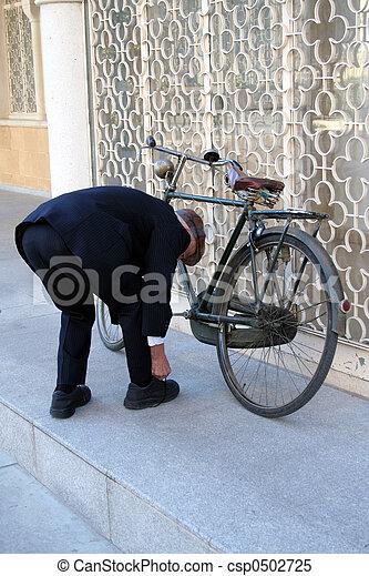 biciklista, retro - csp0502725