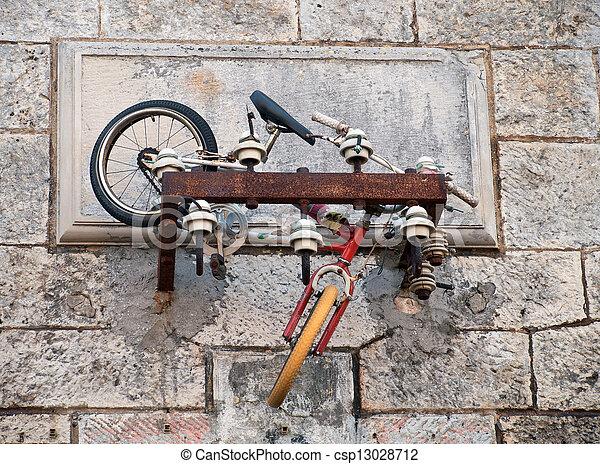Bicycle abandoned - csp13028712