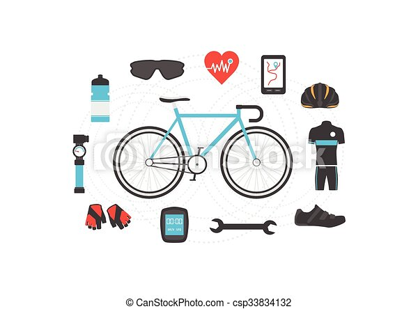 bicycle accessories - csp33834132