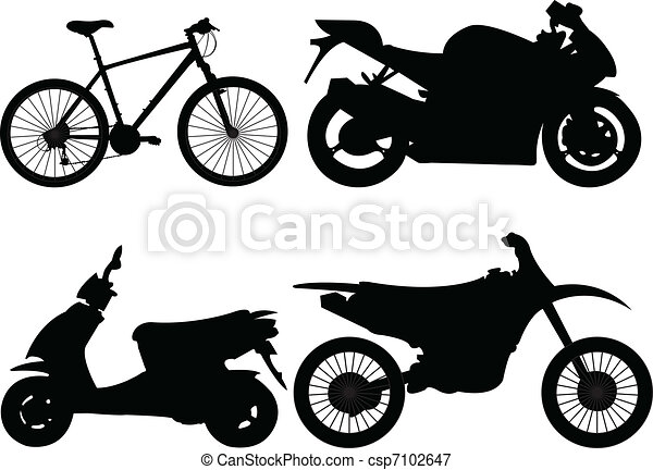 bicycle and motorcycle - csp7102647