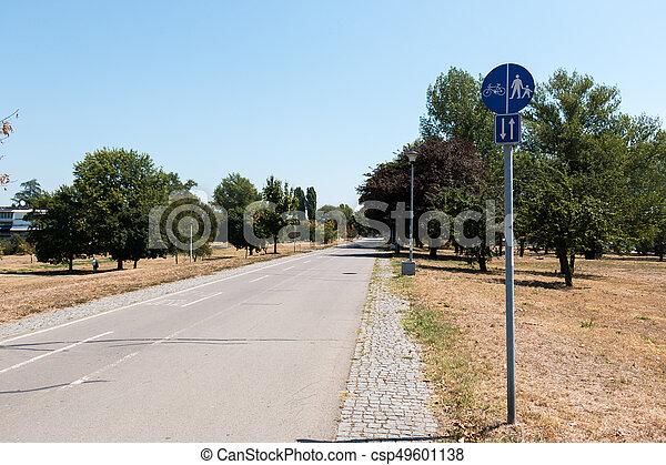 Bicycle and pedestrian lane - csp49601138