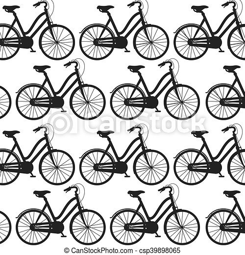 Bicycle Background Wallpaper Classic Bicycle Background Bike Wallpaper Silhouette Vector Illustration Canstock