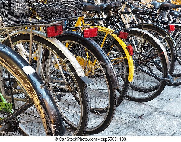 Bicycle bikes parking - csp55031103