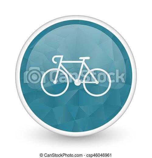 Bicycle brillant crystal design round blue web icon. - csp46046961