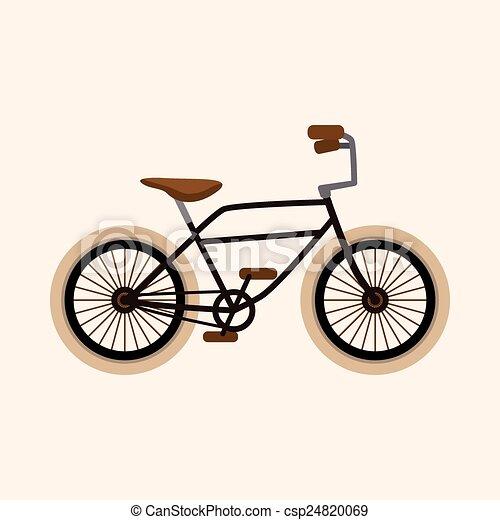 bicycle cartoon design elements vector - csp24820069