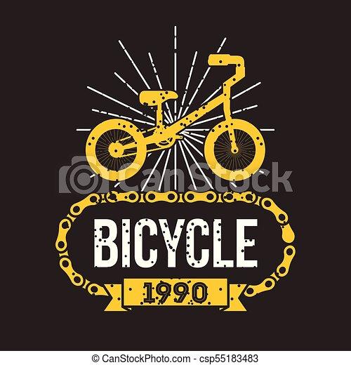 bicycle chain classic retro banner - csp55183483