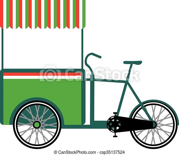 Bicycle food cart - csp35137524