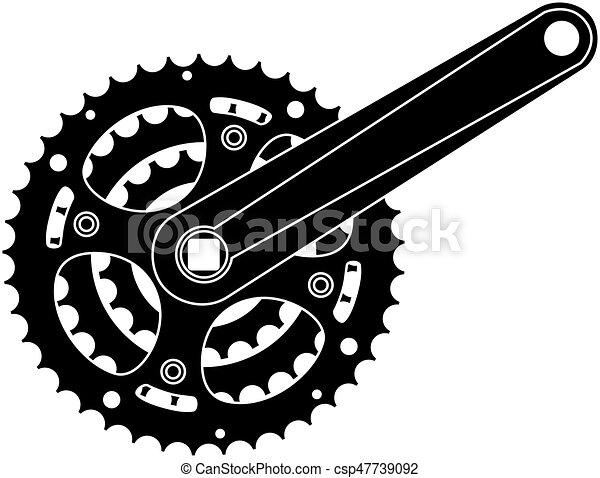 Bicycle gear, metal cogwheel - csp47739092
