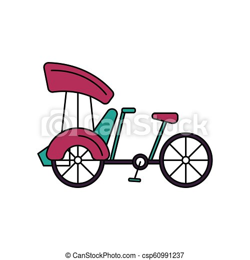 Bicycle icon, cartoon style - csp60991237