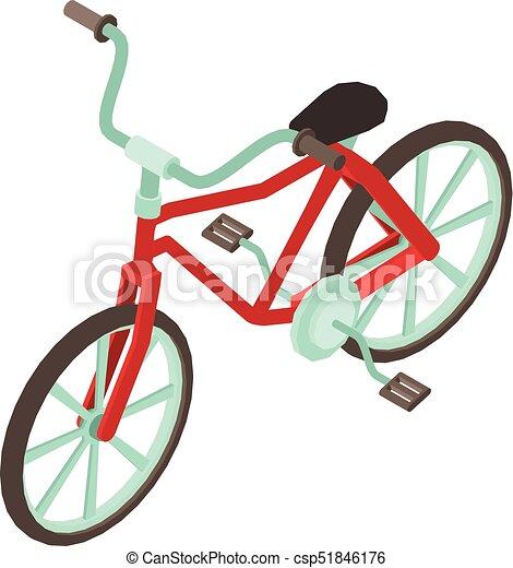 Bicycle icon, isometric style - csp51846176