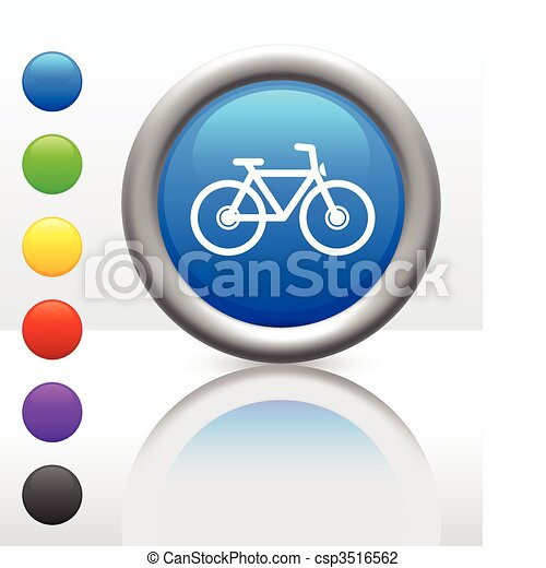 bicycle icon on internet button - csp3516562