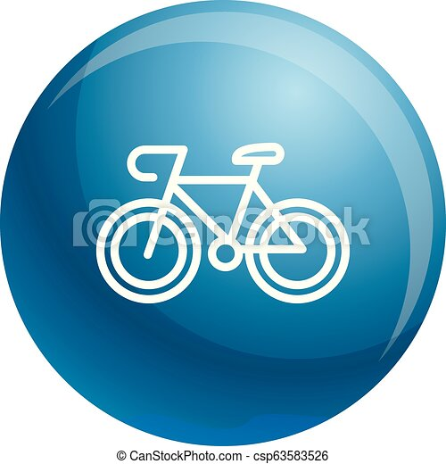 Bicycle icon, outline style - csp63583526