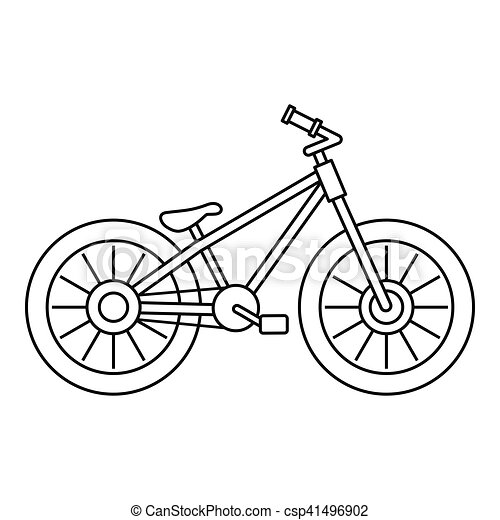 Bicycle icon, outline style - csp41496902
