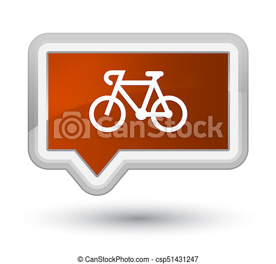 Bicycle icon prime brown banner button - csp51431247