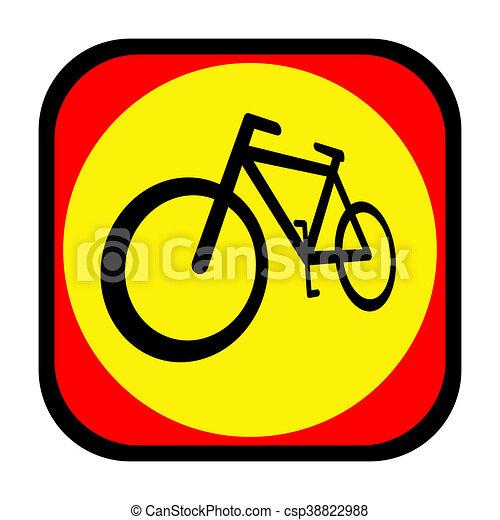 Bicycle icon - csp38822988