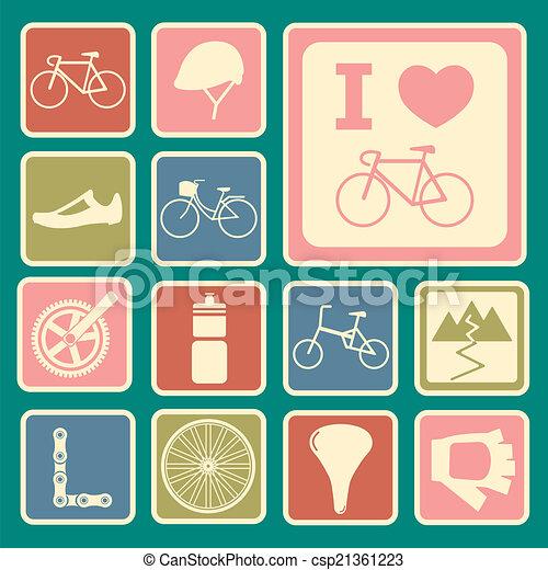 bicycle icons - csp21361223