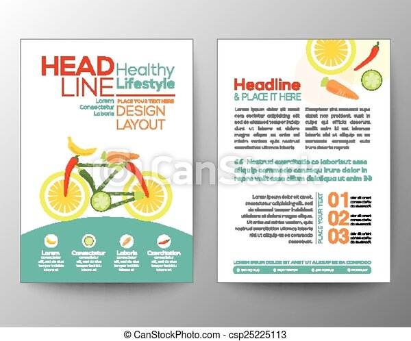 bicycle illustration made from vegetables healthy lifestyle concept