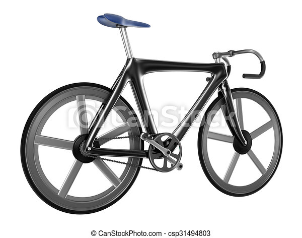 Bicycle isolated on white background - csp31494803