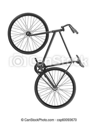 Bicycle isolated on white background - csp60093670