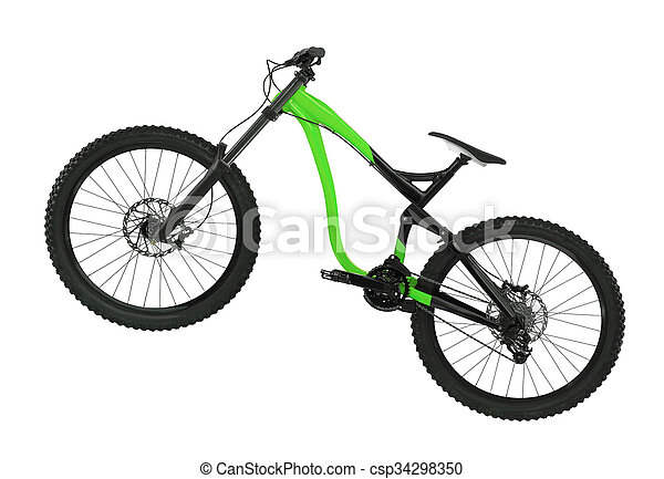 Bicycle isolated on white background - csp34298350