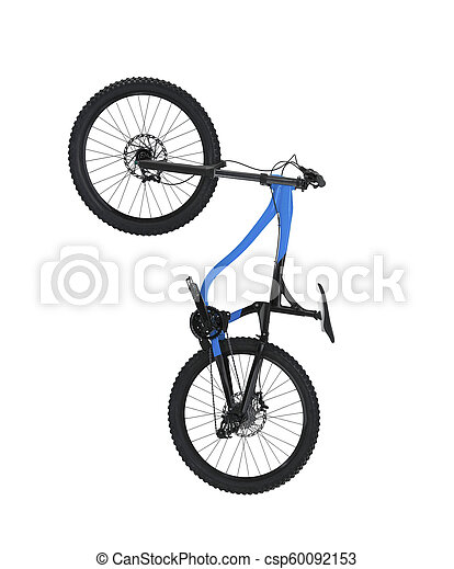 Bicycle isolated on white background - csp60092153