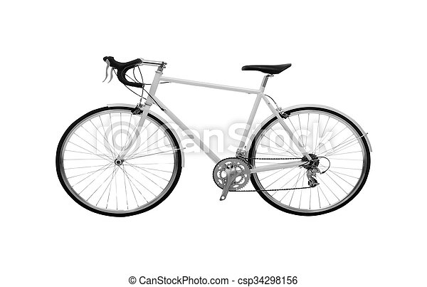 Bicycle isolated on white - csp34298156