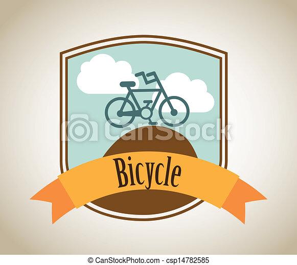 bicycle label - csp14782585