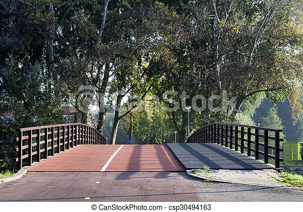 Bicycle lane bridge - csp30494163